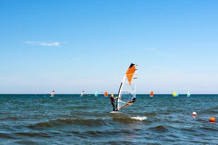 Gdynia, Poland - July 28, 2018: Volvo Gdynia Sailing Days is a prestigious and spectacular sailing event in Poland organized by Polish Sailing Federation.
