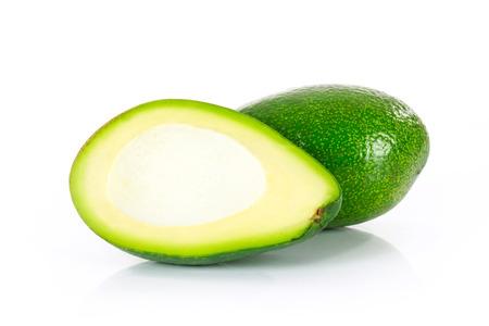 Slices of ripe avocado isolated on the white background Stock Photo