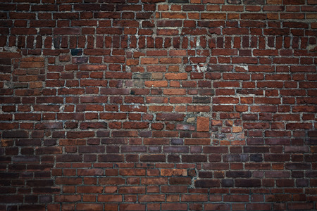 Large and old archival brick wall as a background ( high details) Stock Photo