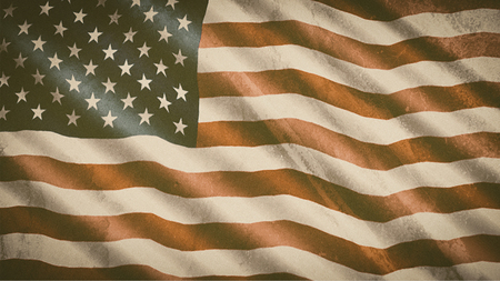 Patriotic background - grunge and vintage flag of United States of America
