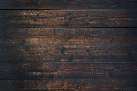 Old Vintage table en bois brun foncé fond texturé (détails élevés)