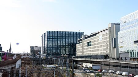 Stockholm, Sweden - August 09, 2019: Stockholm Central Station is the largest city communication hub for train, subway and bus station (Cityterminalen) Editorial