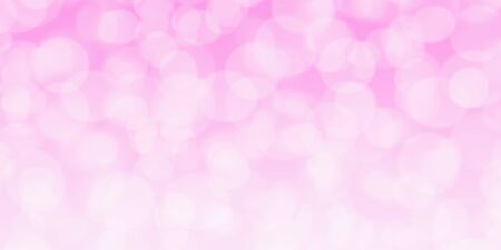 Abstract pink wide background with beautiful bokeh lights ideal for your project or banner Imagens