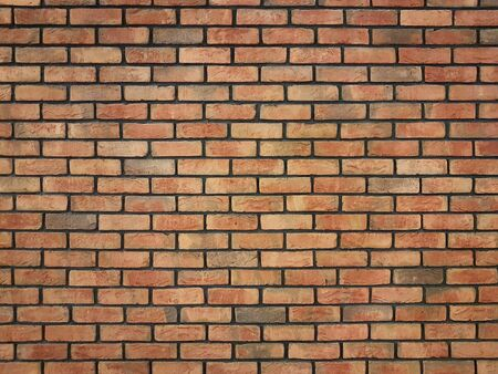Large red brick interior wall - ideal for your wallpaper interior decoration (high details) Imagens