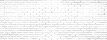 Large white brick interior wall - ideal background for your project or decoration.