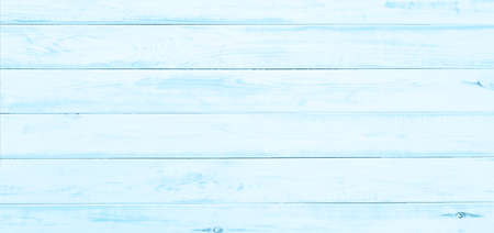 Top view of old blue painted and wide wooden table as rustic or texture background (high detail)