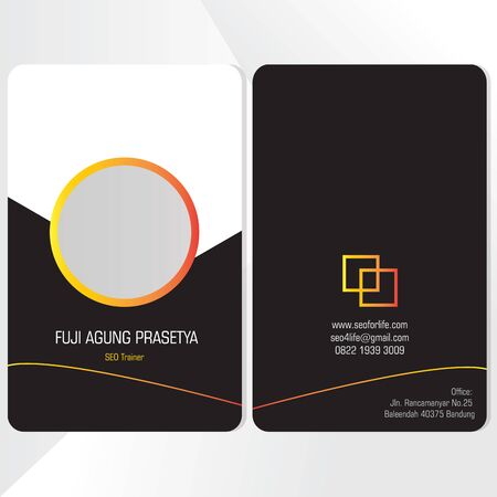 luxury design business ID card flat template vector 向量圖像
