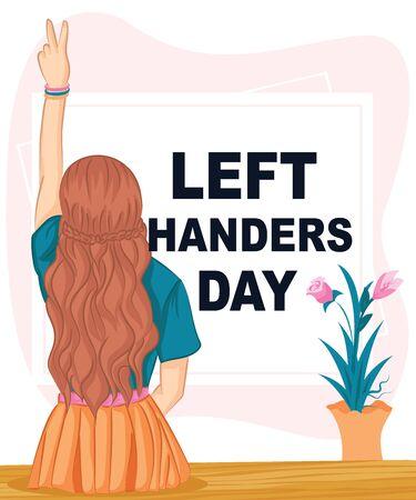 Happy Left-handers Day. Celebrate Vector Illustration
