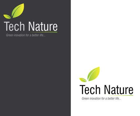 Tech Nature Logo Design - Green Innovation for Better Life Illustration