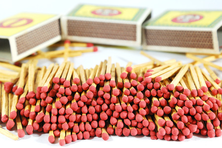 matches isolated photo