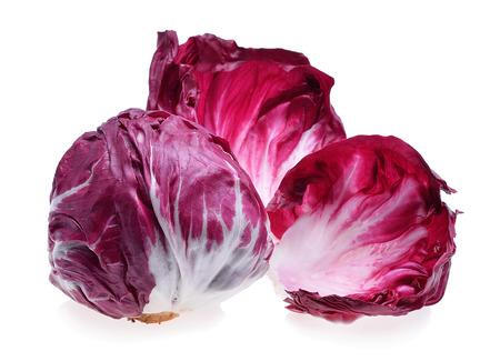 radicchio: Radicchio, red salad isolated on white