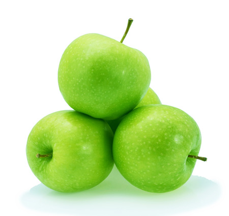 green apples: Green apples Isolated on a white background