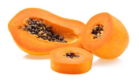 cranny: ripe papaya isolated on a white background