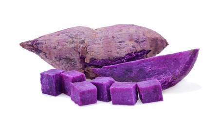 Purple sweet potatoes isolate on white