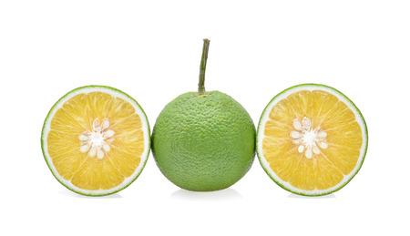 citrus aurantium: sweet orange(Citrus medica Linn) isolated on white background