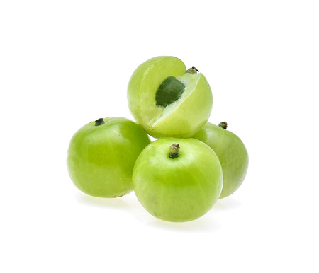 tropica: Indian gooseberry or Amla (Phyllanthus emblica) on white background