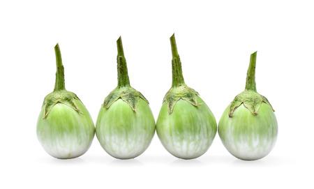 nightshade: Thai eggplant isolated on white background Stock Photo