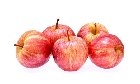 Gala apples on white background Stock Photo