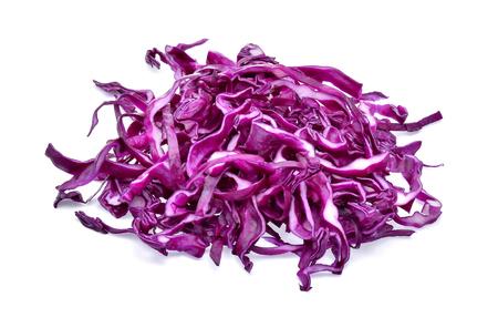 Purple cabbage on white background