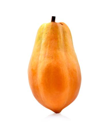 Papaya isolated on white background Stock Photo