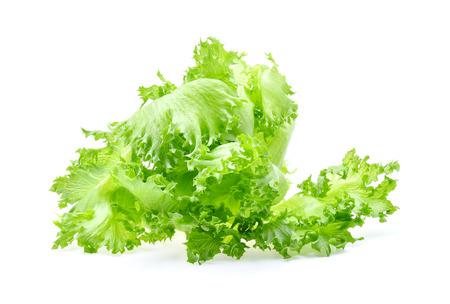 green frillies iceberg lettuce isolated on white background Stock Photo