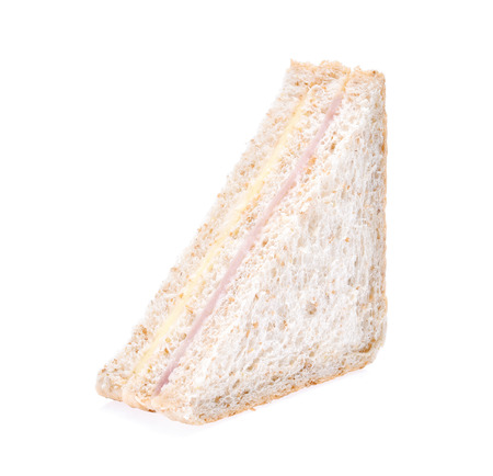 Sandwich with ham and cheese isolated on white background Standard-Bild