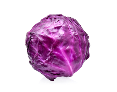 red cabbage isolated on white background Stock Photo