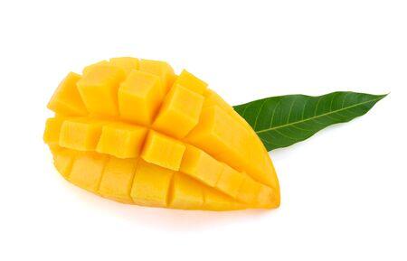 Mango isolated on white Standard-Bild