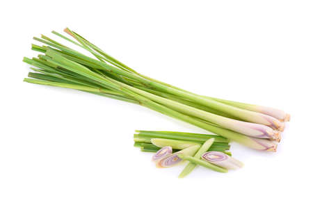 Lemongrass isolated on white background