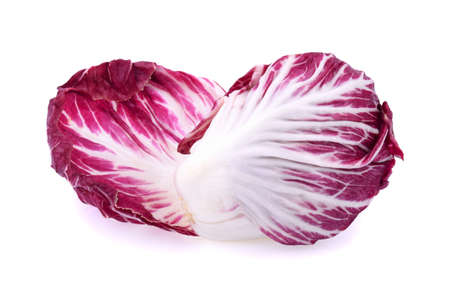 Radicchio, red salad isolated on white background Standard-Bild