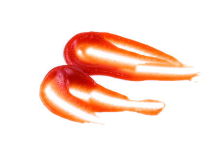 tomato sauce or ketchup isolated on a white background Standard-Bild