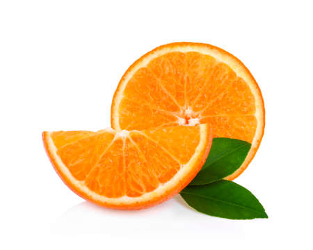 mandarin orange isolated on white background