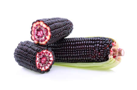 purple corn isolated on a white background