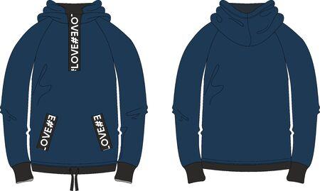 Woman sport style yoga joggers pants professional textile product model design technical apparel template Illustration