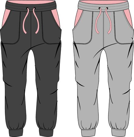 Girl fashion sport pants butterfly