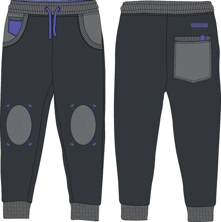 Boys sport joggers pants urban wear technical template design cotton production fittness workout