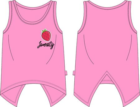 Girls fit tank shirt pink sweaty template
