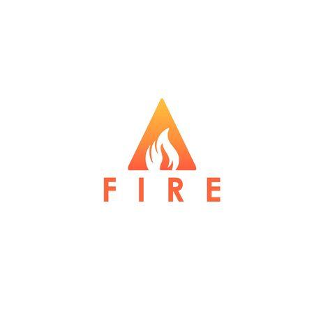 A letter logo, fire flames logo design. Illustration