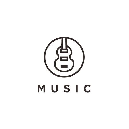 Simple Icon / logo design Violin Viola Fiddle Cello bass