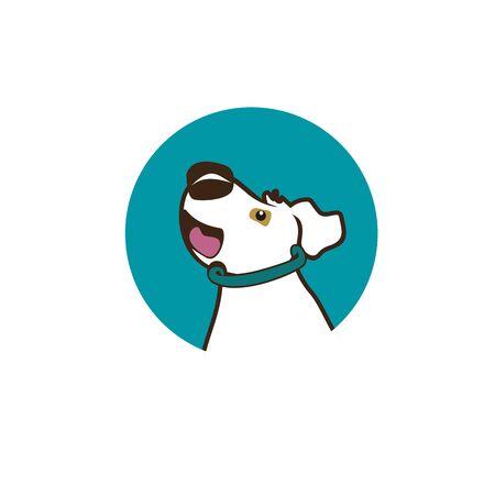 Cute cartoon dog vector illustration for logo design Illustration