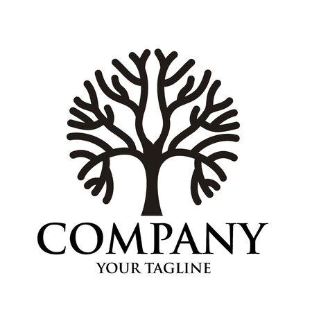 Line Art bonsai / bonsai tree Logo design inspiration