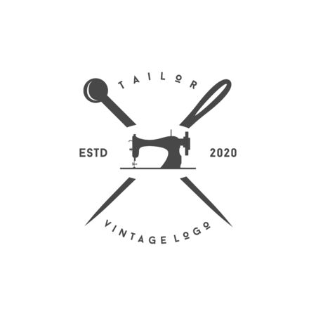 Minimalist Luxury Vintage Tailor Logo design template