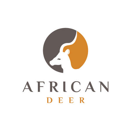 African Deer Head logo design/ animal logo design inspiration