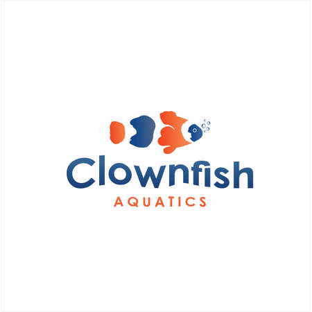 Clownfish logo design, fish logo design inspiration.