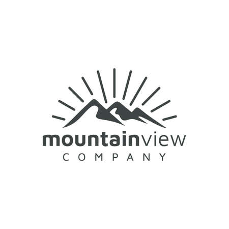 Mountain / adventure / travel vintage retro rustic hipster logo design