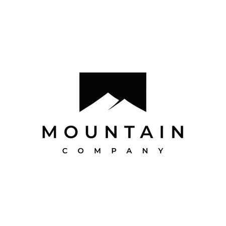 Simple Modern Mountain Logo Design Ilustrace
