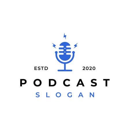 Mic podcast  design vector