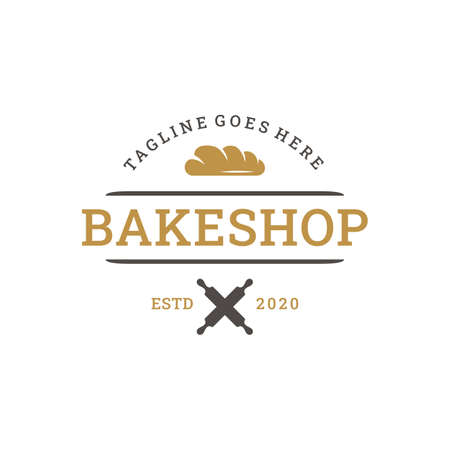 Vintage Retro Bakery, Bake Shop Logo design