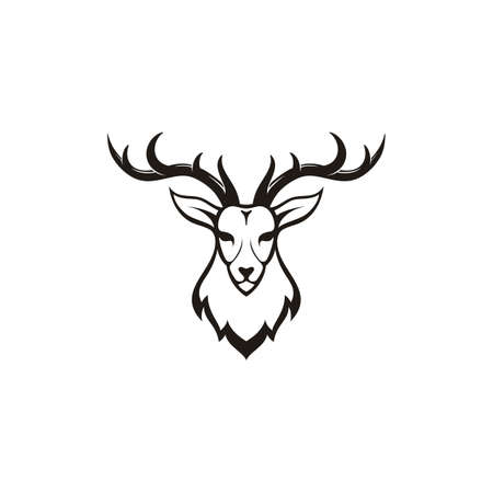 Deer head logo design illustration vector