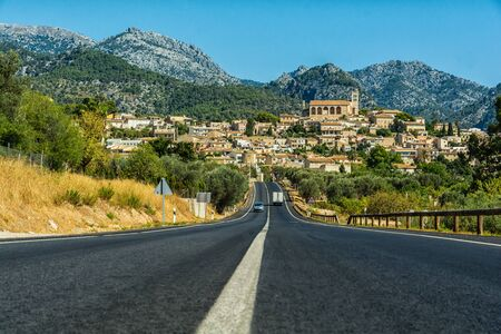 The road to Selva in Mallorca